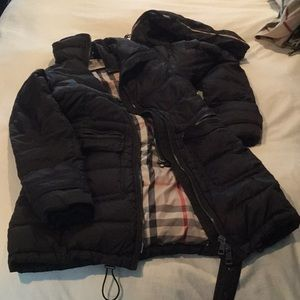 Burberry Hooded belted puffer coat